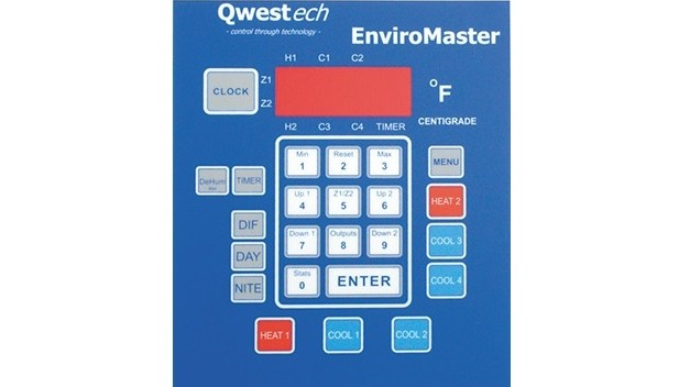 Temperature Control Panel Keypad