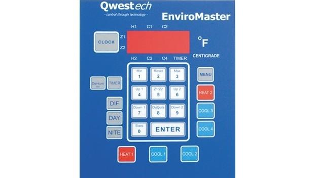Temperature Control Panel Keypad