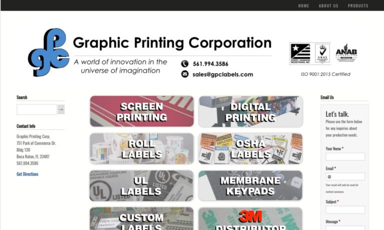 Graphic Printing Corp.